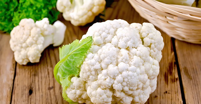 Bloemkool, een van de belangrijkste kruisbloemige groenten