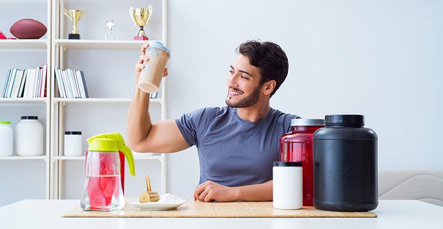 Wei-proteïne voor spieren