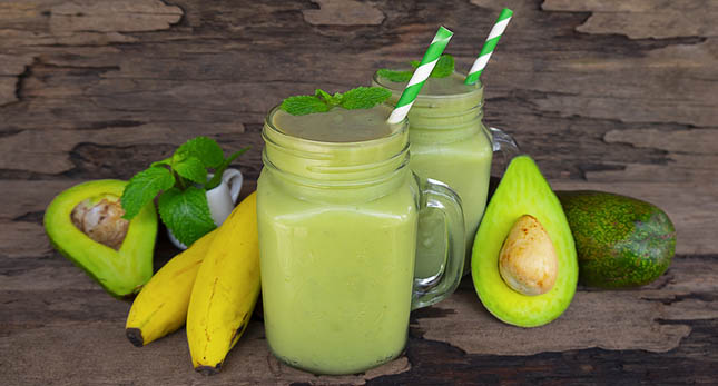 Smoothie banaan avocado
