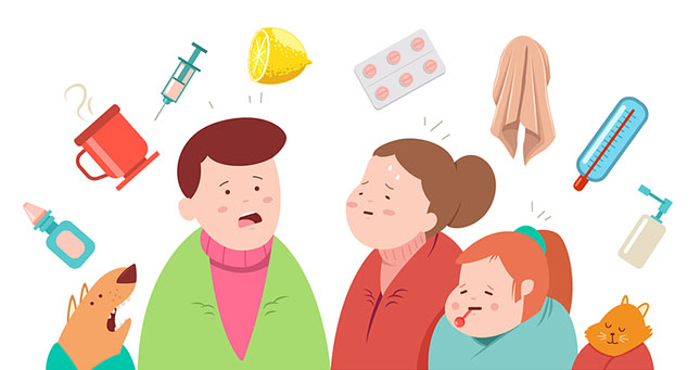 Griep: verschil met verkoudheid, symptomen en behandeling